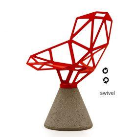 chair-one-concrete-swivel-it Sedia, Magis, CHAIR ONE CONCRETE GIREVOLE, Konstantin Grcic, Sedia girevole dotata di meccanismo di ritorno della seduta.. Magis