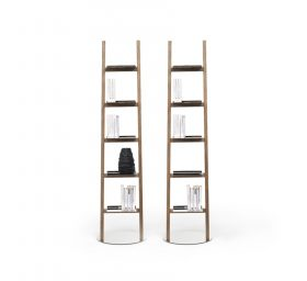 mogg-allascala-it Libreria, Mogg, Libreria Alla Scala, Claudio Bitetti, 2014 Lampada - libreria realizzata in frassino massello con luce LED 3000K  e 5 ripiani in acciaio lucidato a specchio.. Mogg