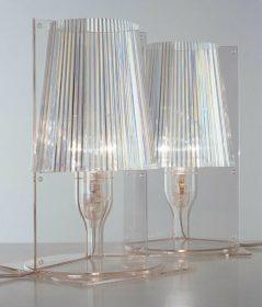kartell-take-it Lampada da tavolo, Kartell, TAKE, Ferruccio Laviani Lampada da tavolo in policarbonato trasparente.. Kartell